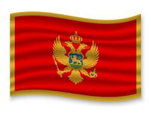 3D Waving Flag  . Vector illustration. 3D Waving Flag of Montenegro . Template for your design royalty free illustration