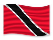3D Waving Flag  . Vector illustration. 3D Waving Flag of Trinidad . Template for your design vector illustration