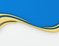 3D Wavy background Royalty Free Stock Image