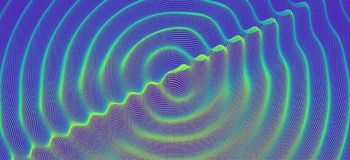 3D wavy background with ripple effect. Vector illustration with particle. 3D grid surface.  vector illustration