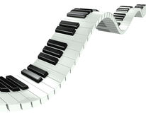 3d Wavy piano keys Royalty Free Stock Photos