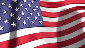 3D wavy reflective United States of America flag Royalty Free Stock Photography