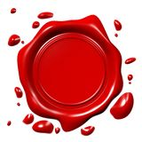 3D wax seal... Stock Image