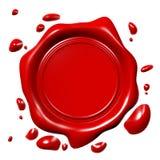 3D wax seal... Stock Image