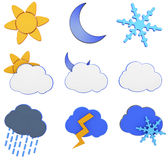 3d Weather icons Royalty Free Stock Photo