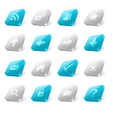 3d web buttons Stock Image
