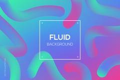 3d web design futuriste dynamique liquide moderne, calibre de débarquement de page illustration libre de droits