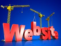 3d web site development over blue royalty free illustration