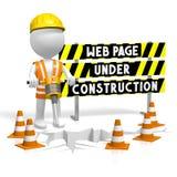 3D webpage w budowie pojęcie Obrazy Royalty Free