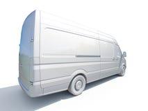 3d weiße Lieferung Van Icon Stockfoto