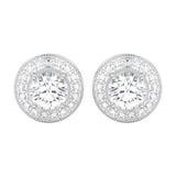 3D Weißgold- oder Silberdiamanten der Illustration zwei schrauben Beitragssuite Stockbild