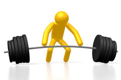 3D weightlifting concept Stock Images
