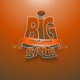 3d wektor formułuje dużą jesieni sprzedaż Obraz Royalty Free