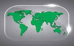 3D wereldkaart Stock Afbeelding