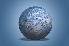 3d wereldkaart Royalty-vrije Stock Foto