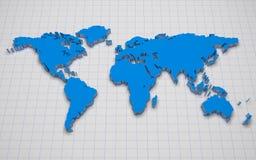 3d wereldkaart Royalty-vrije Stock Foto's