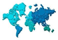 3D wereldkaart met punten, vector Royalty-vrije Stock Fotografie