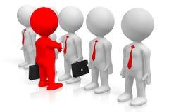 3D werkgever en werknemersconcept Royalty-vrije Stock Foto