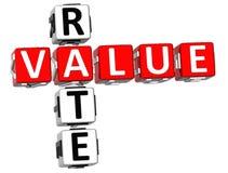 3D Wert Rate Crossword vektor abbildung
