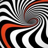 3D werveling van lijnen, vector illustratie
