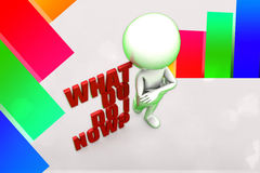 3d What Do i Do Now Illustration Stock Image