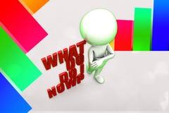 3d What Do i Do Now Illustration Stock Image