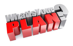 3d What is Your Plan Question Royalty Free Stock Photo