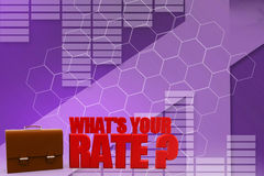 3d Whats Your Rate Illustration Stock Image