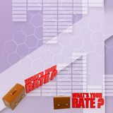 3d Whats Your Rate Illustration Stock Photography