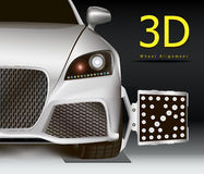 3D wheel alignment Royalty Free Stock Photography