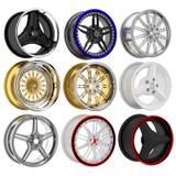 3d wheel collection. Stock Photos