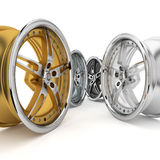 3d wheel collection. Royalty Free Stock Photography