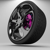 3d wheel racing. Stock Photo
