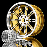 3d wheel. Royalty Free Stock Photography