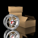 3d wheel. Royalty Free Stock Images