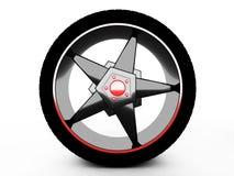 Wheel  on white Stock Photography