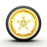 3d wheel  on white Stock Images