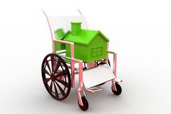 3d wheelchair housing concept Royalty Free Stock Images