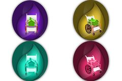 3d wheelchair housing icon Royalty Free Stock Photo