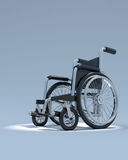 3d Wheelchair in spotlight Royalty Free Stock Photo