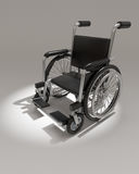 3d Wheelchair in spotlight Stock Photography