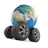 3d Wheeled globe Royalty Free Stock Image
