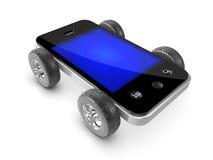 3d Wheeled smartphone Stock Photos
