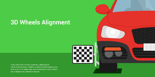 3D wheels alignment Stock Image