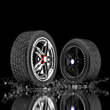 3d wheels Stock Photo