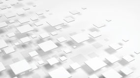 3D of white abstract cube backdrop Stock Photo