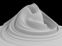 3d white abstract foam hill background Stock Images
