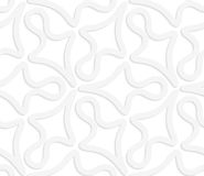 3D white abstract geometrical clubs. Seamless geometric background. Pattern with realistic shadow and cut out of paper effect.White 3d paper.3D white abstract Stock Photo
