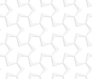 3D white abstract pointy tetrapod grid Stock Photo