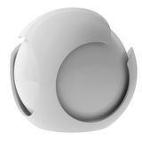 3d white abstract sphere Stock Image